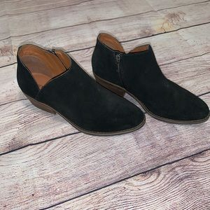 Lucky Brand Black Suede Style Booties